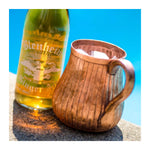 AMORETTI BROTHERS HAND ENGRAVED COPPER MUGS - SET OF 2