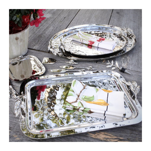 CARMEL CERAMICA OLIVEIRA STAINLESS STEEL LARGE RECTANGULAR TRAY