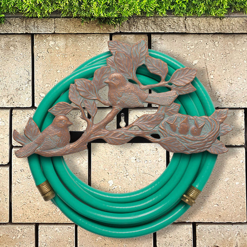 CHICKADEE HOSE HOLDER - COPPER VERDIGRIS