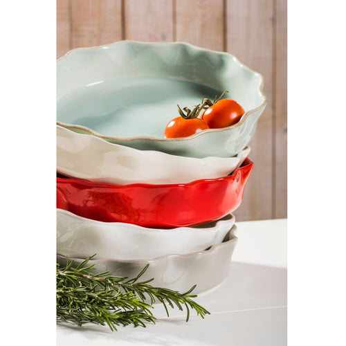 CASAFINA COOK & HOST RUFFLED PIE DISH - GREY
