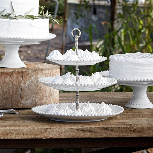 COSTA NOVA PEARL TIERED CENTERPIECE TRAY