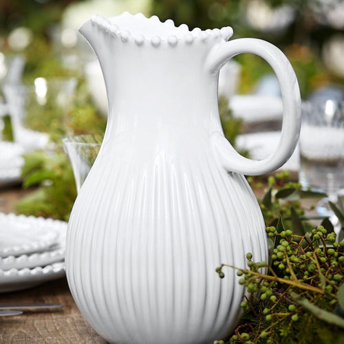 COSTA NOVA PEARL PITCHER - WHITE