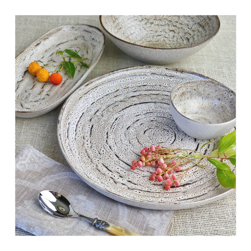 CARMEL CERAMICA TRUFFLE MEDIUM OVAL TRAY