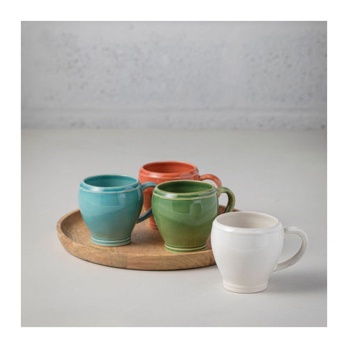 CASAFINA FONTANA TURQUOISE COFFEE MUGS - SET OF 6