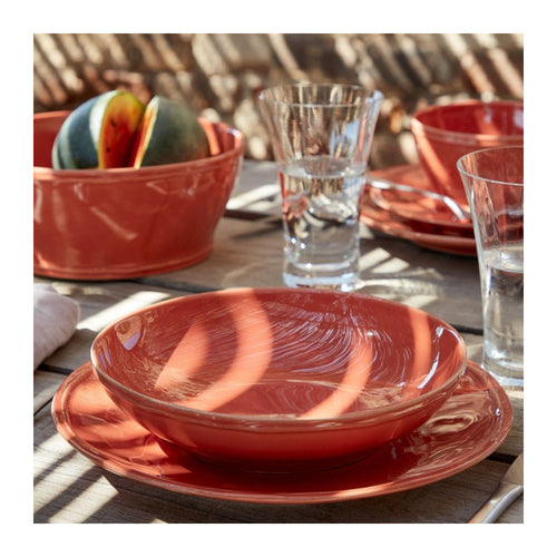 CASAFINA FONTANA PAPRIKA DINNER PLATES - SET OF 6