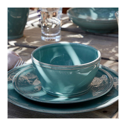 CASAFINA FONTANA TURQUOISE DINNER PLATES - SET OF 6