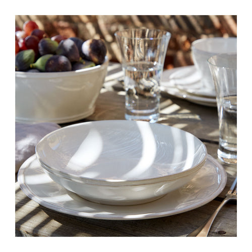 CASAFINA FONTANA WHITE DINNER PLATES - SET OF 6