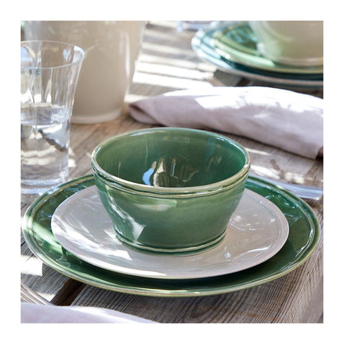 CASAFINA FONTANA FOREST GREEN CEREAL BOWLS - SET OF 6