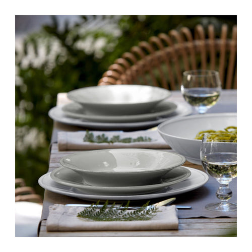 COSTA NOVA FRISO WHITE SOUP / PASTA PLATE - SET OF 6