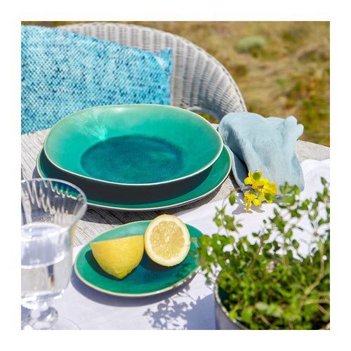 COSTA NOVA RIVIERA AZUR SOUP/PASTA PLATES - SET OF 6