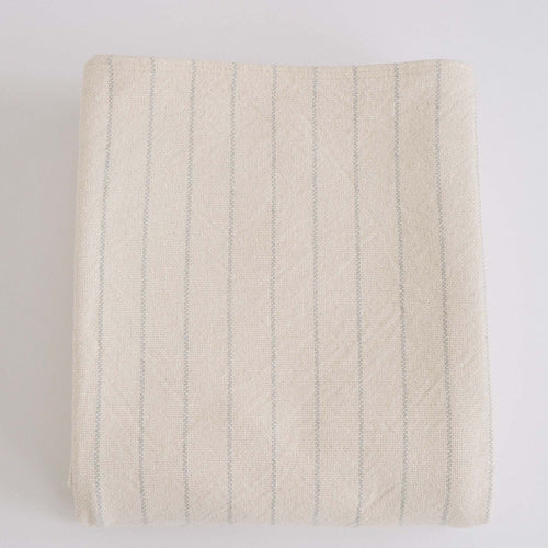 COTTON PINSTRIPE BLANKET - CLASSIC GREY