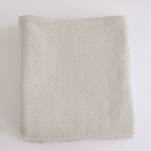 HERRINGBONE GREY COTTON BLANKET