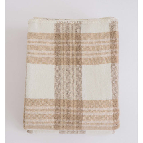 MERINO WOOL BLANKET - HARVEST PLAID