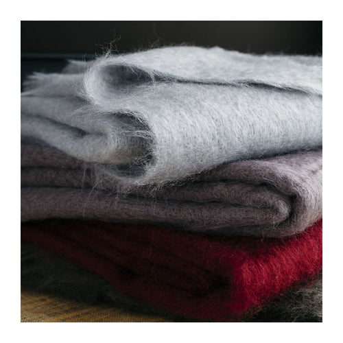 MOHAIR THROW - ASH