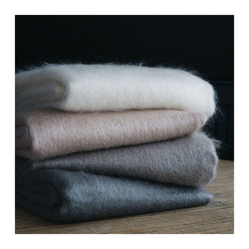 MOHAIR THROW - DAWN