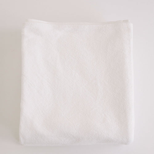 SIMPLE  COTTON BLANKET - BRIGHT WHITE