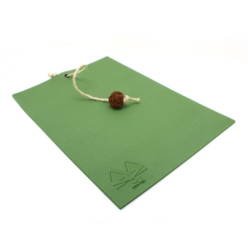 FELINE YOGI OLIVE GREEN CAT YOGA MAT