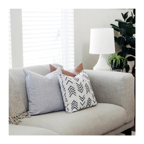 FLAX MUD CLOTH PILLOW COVER – 20""