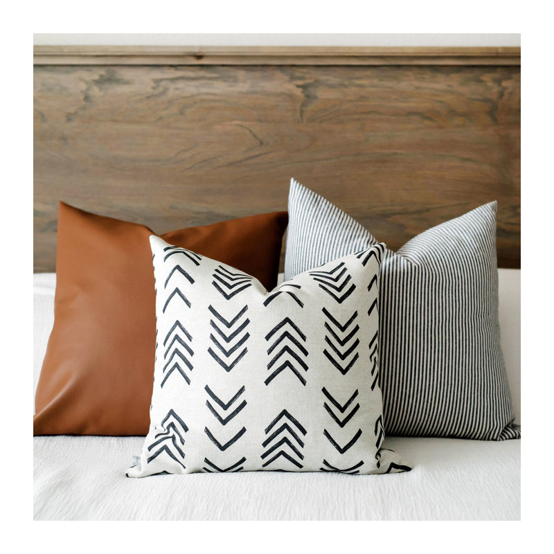 FLAX MUD CLOTH PILLOW COVER – 18""