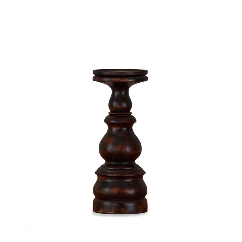 HUDSON WOOD CANDLE HOLDER - SMALL - SABLE