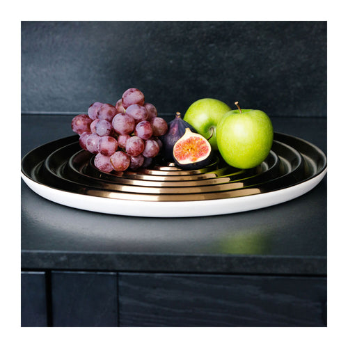 VERTIGO CERAMIC FRUIT PLATE
