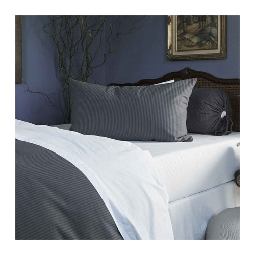 MATTEO BLACK TICK COTTON SHAMS - SET OF 2