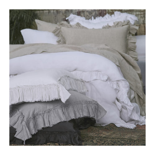 MATTEO TAT LINEN SHAMS - SET OF 2