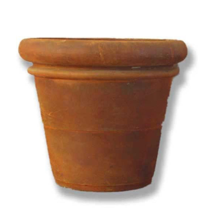 "28"" ROLLED RIM PLANTER - BURNT UMBER"