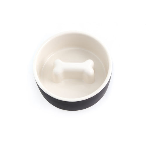 PAIKKA SLOW FEED DOG BOWL - BLACK