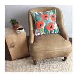 ORIENTAL POPPY PILLOW COVER – 18""