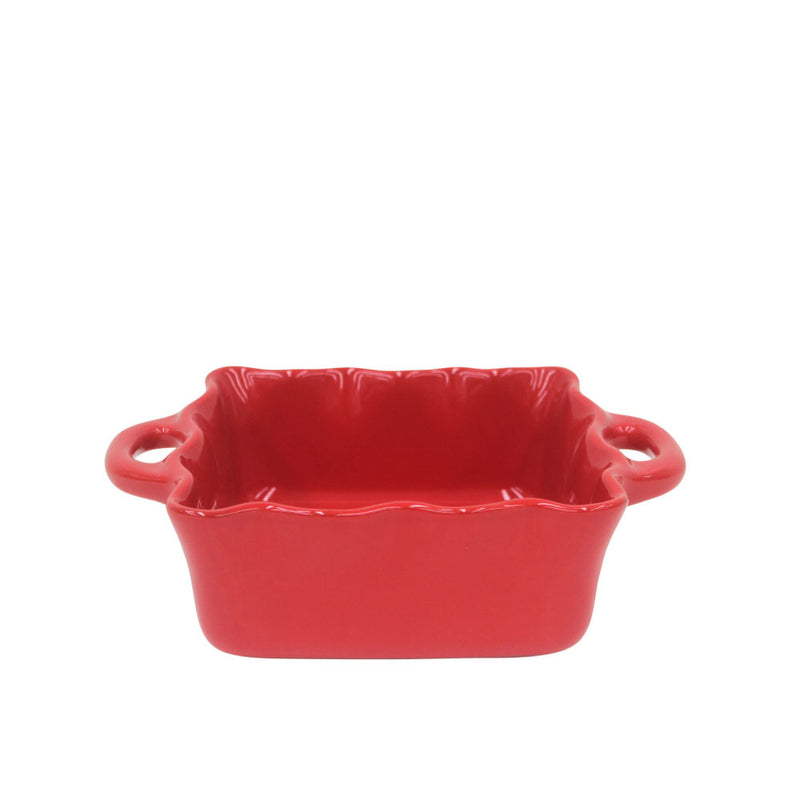 CASAFINA SQUARE RUFFLED BAKER - RED