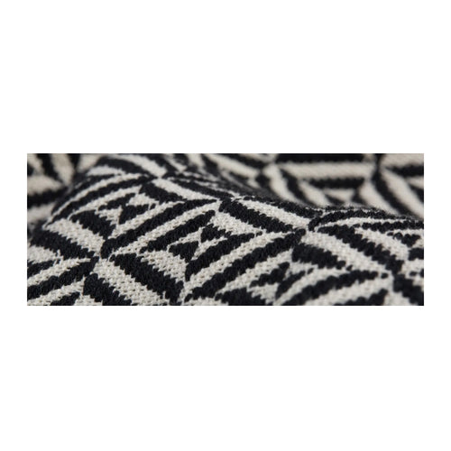 SORAYA WOVEN DIAMOND THROW - BLACK & WHITE