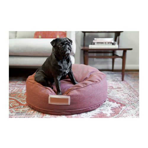 ROUND PET BED - RUSSET ROVER