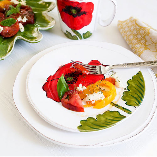 VIETRI LASTRA POPPY SALAD PLATE – SET OF 4