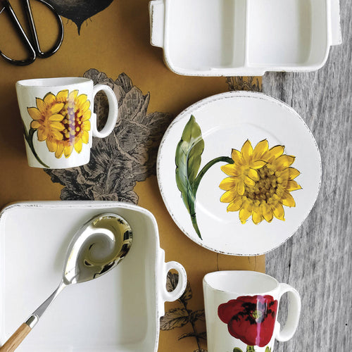 VIETRI LASTRA SUNFLOWER SALAD PLATE – SET OF 4