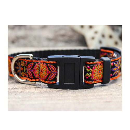 VENICE INK FLORAL BREAKAWAY CAT COLLAR