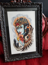 "Load image into Gallery viewer, ""The Sinner"" FRAMED ORIGINAL PAINTING by Erin Chance"