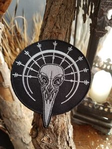 Bird Skull Logo Iron-on Patch