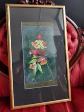 "Load image into Gallery viewer, ""Crimson Rosella"" FRAMED ORIGINAL PAINTING by Red Du Monde"