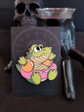 "Load image into Gallery viewer, ""Pool Floaties Croc"" pin by Lindsay Hall"