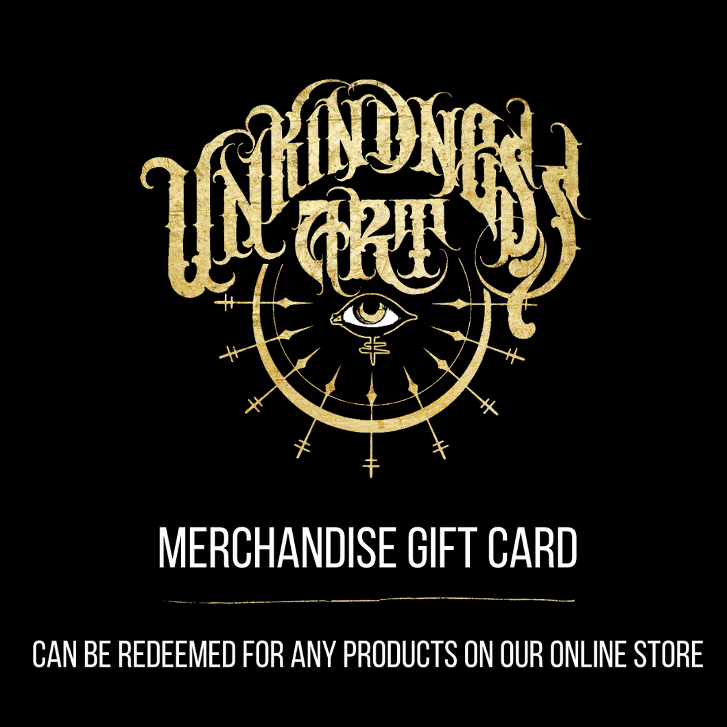 Unkindness Art Merchandise Gift Card