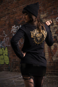 Unkindness Art Gold Logo Long Sleeve Shirt