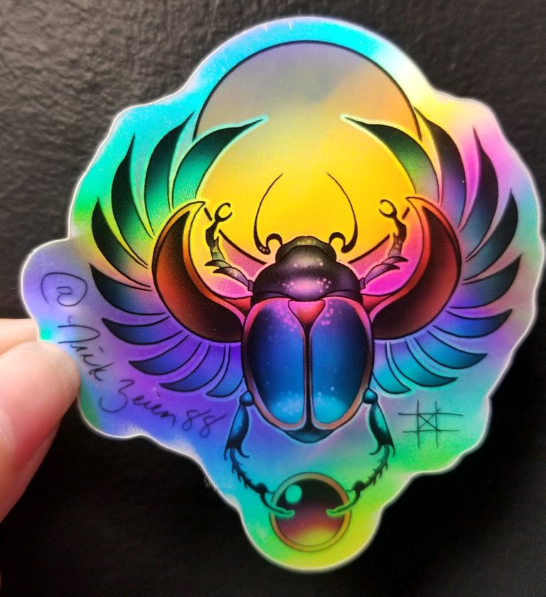 Scarab Sticker by Nick Zeien