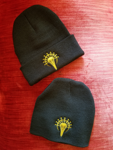Embroidered Bird Skull Logo Beanie
