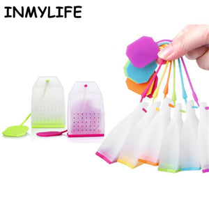 INMYLIFE Food-grade Silicone Tea Bags Colorful Style Tea Strainers Herbal Tea Infusers Filters Scented Tea Tools Random color