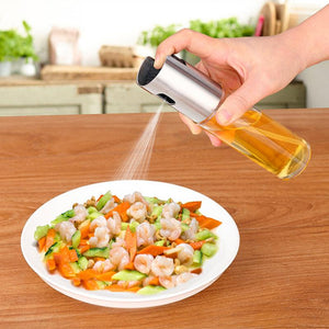 Glass Olive Oil Sprayer Oil Spray Empty Bottle Vinegar Bottle Oil Dispenser for Cooking Salad BBQ Kitchen Baking
