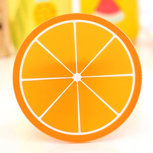 100% Brand new Coaster Fruit Shape Silicone Cup Pad Slip Insulation Pad Cup Mat Pad Hot Drink Holder