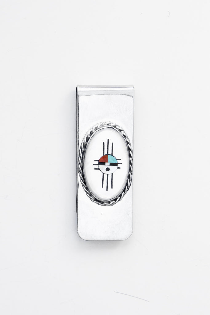 Sunface Inlay Money Clip - bow&arrow nyc