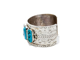 Sleeping Beauty 5-Turquoise Stone Cuff - Bow&Arrow
