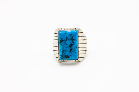 Men's Overlay Turquoise Ring